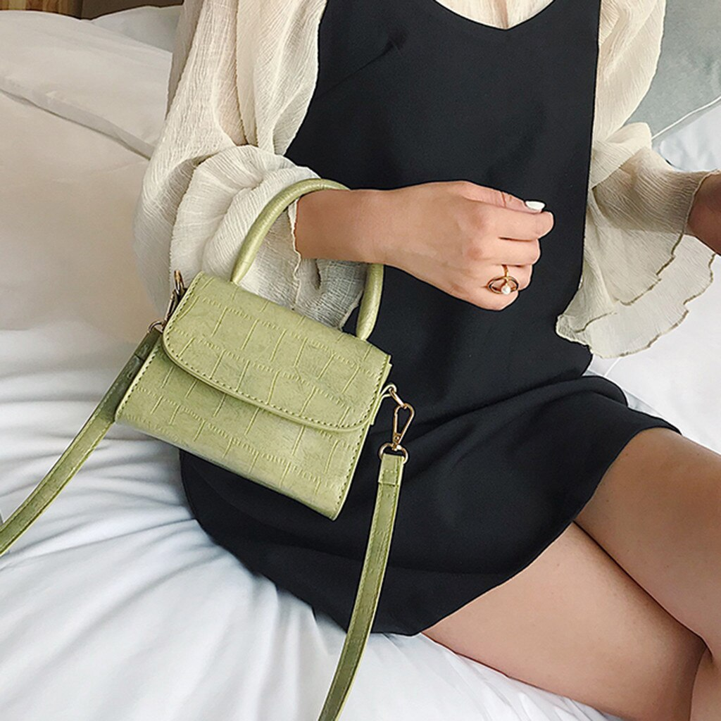 PU Leather Crossbody Bags For Women 2020 Small Totes With Metal Handle Lady Shoulder Messenger Bag Handbags 1.16