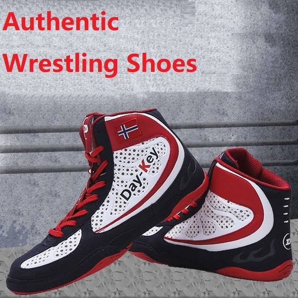 Men Professional Boxing Shoes Wrestling Fighting Boots Women Breathable Wearable Training Boxing Shoes Non-Slip Sneakers