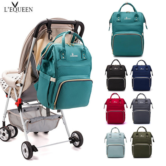 LEQUEEN Diaper Baby Bags Backpack For Moms Baby Bag Maternity Hospital Bag Care Nappy Bag Travel Stroller Send Free Hooks bolsos
