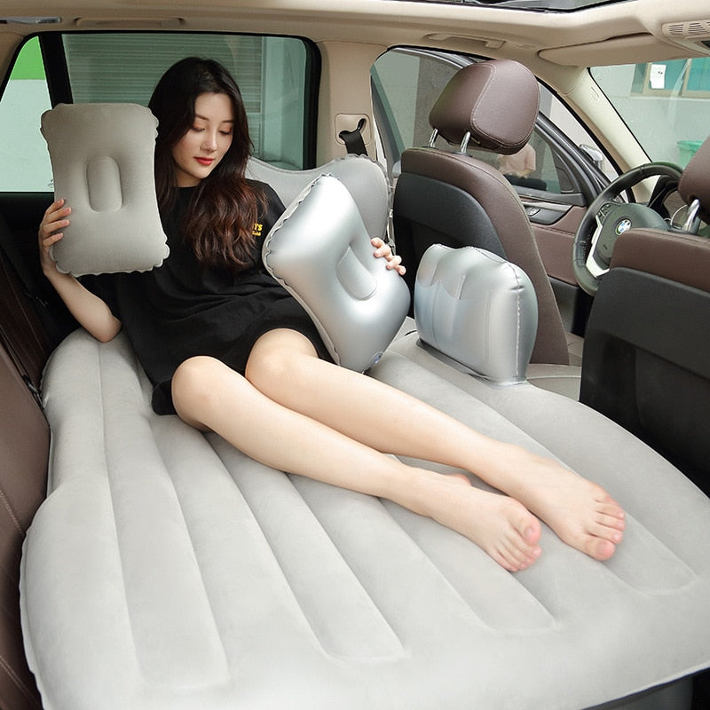 88*181cm Flocking Mattress SUV Car Travel Bed Seat Camping Sofa Bed Inflatable Air Mattress Sleep Pad   Car Accessoire Exterieur