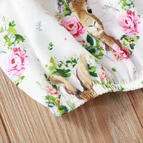 Floral Shorts Pretty Toddler Baby Girl Bunny Outfits Clothes Casual Vest Tops