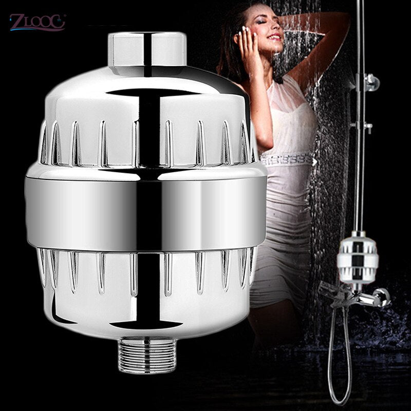 Zloog 15 Stages Bathroom Shower Filter Bath Water Purifier Water Treatment Health Softener Chlorine Removal
