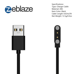 Original Zeblaze 70cm USB Magnetic Charging Cable Watch Cable for Zeblaze VIBE 3 HR/ VIBE 3 PRO / VIBE 3 ECG Smartwatch Charger