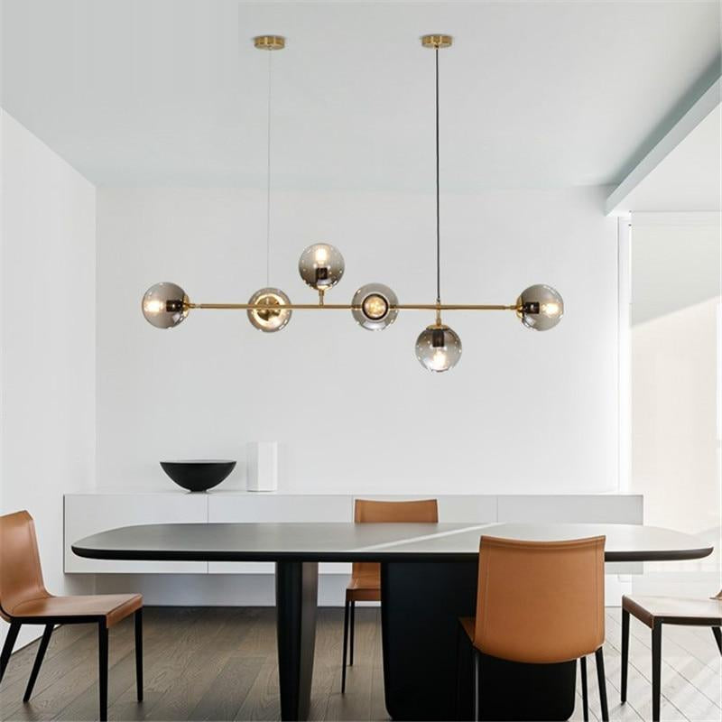 Nordic GLass Molecular Pendant Lights Restaurant Living Room Dining Room LED Pendant Lamp Home Deco Light Fixtures Hanging Lamp