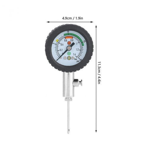 Dial Type Ball Pressure Gauge For Football Volleyball Rugby Basketball Standard