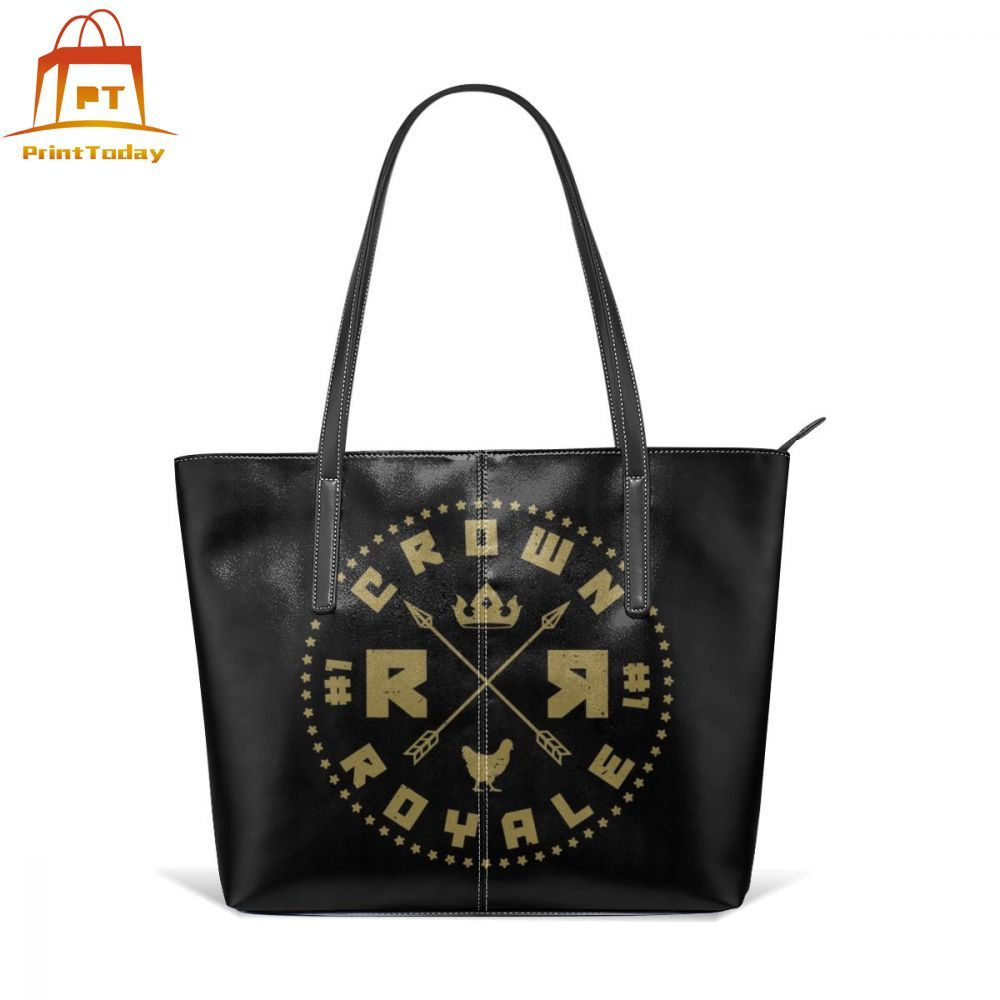 Realm Royale Handbag Realm Royale Crown Royale Chicken Badge Top-handle Bags Womens Teen Leather Tote Bag Pattern Women Handbags