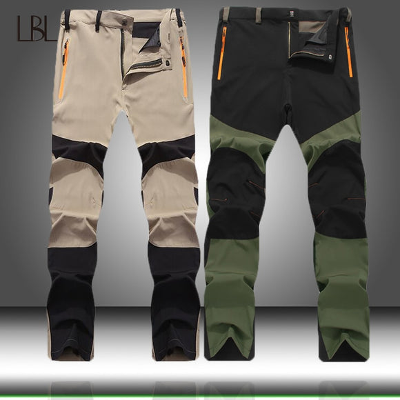 Outdoor Quick Dry Pants Men Cargo Military Hiking Trousers Mens Casual Jogger Zipper Streetwear Male Slim Fit Bottom Sportswear