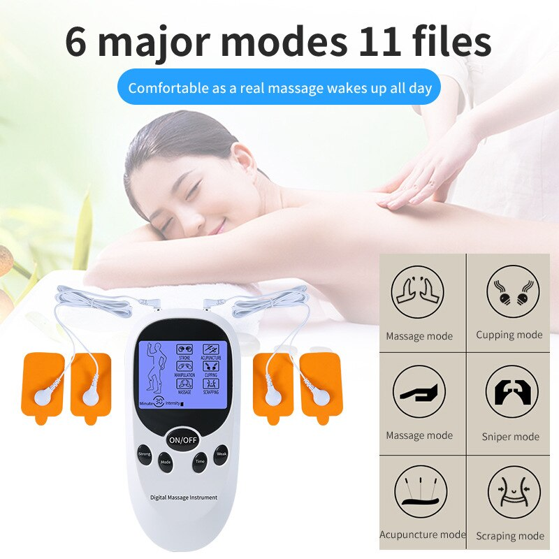 6 Modes Electrical Massager Digital Therapy Tens Machine For Body Pain Relief Health Care Tools for Message Relaxation