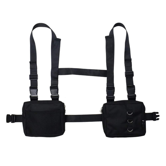 Men Women Fashion Chest Front Bag Hip Hop Streetwear Functional Waist Packs Bag Adjustable Tactical Shoulder Bags Chest Rig Bag