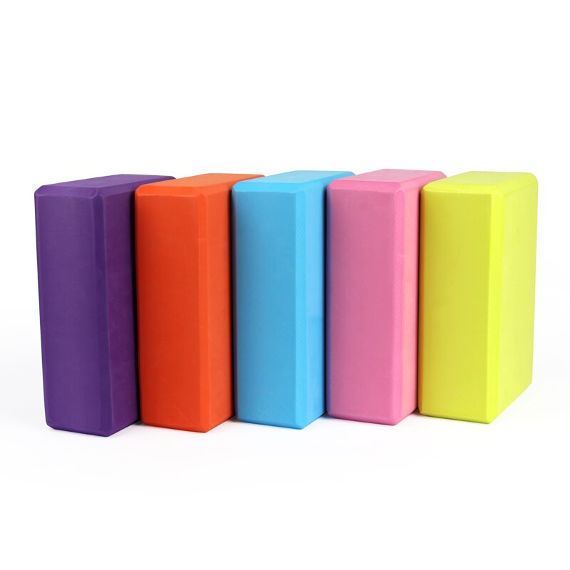 EVA Yoga Block Colorful Foam Block Brick Exercise Fitness Tool Exercise Workout Stretching Aid Body Shaping Health Training