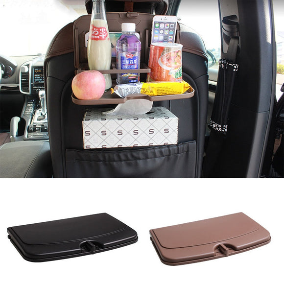 Foldable Car Seat Back Drink Holder Dining Table Travel Camping Accesorios Coche Organizer Accessories Interior Araba Aksesuar