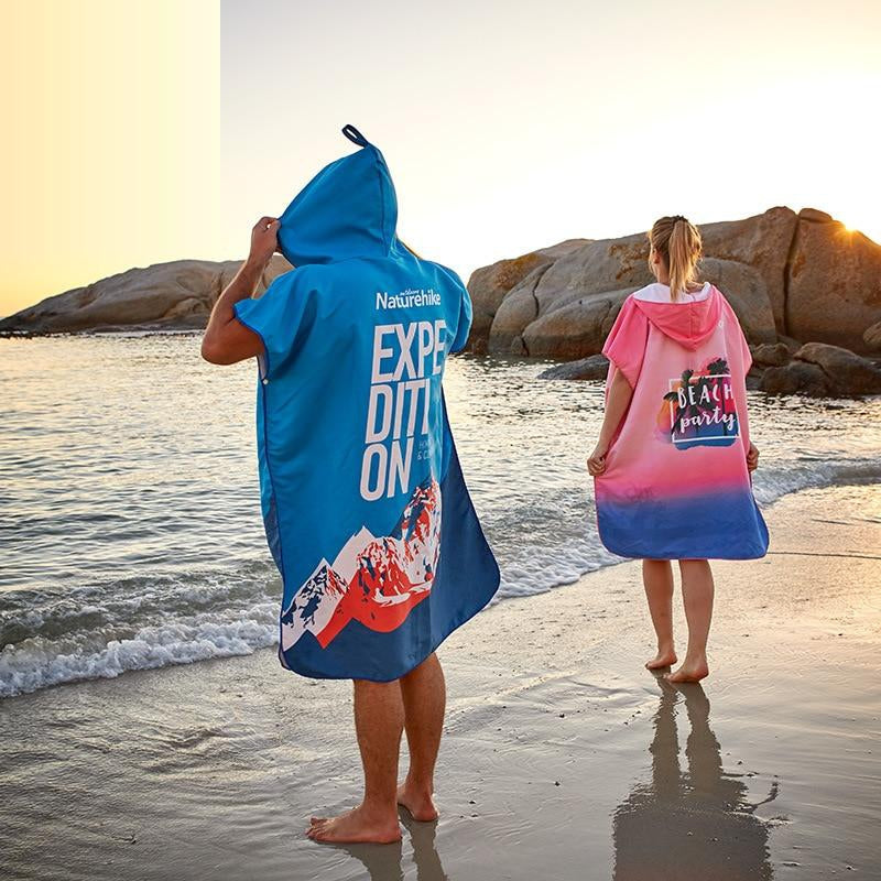 Naturehike 2019 New Quick-drying bathrobe seaside beach adult changing clothes cloak female swimming travel towel cloak