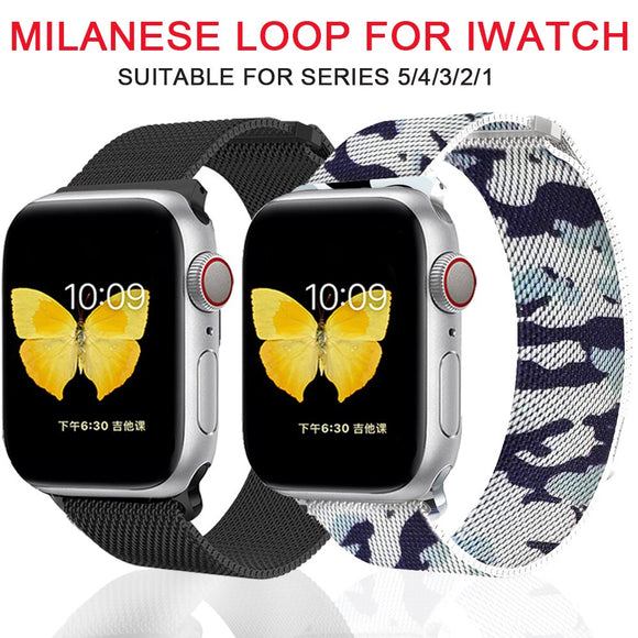 milanese loop for apple watch Series 1 2 3 4 5 band for iwatch stainless steel strap Magnetic buckle 38mm 40mm 42mm44mm Bracelet