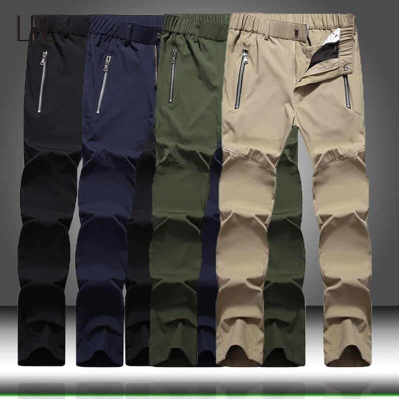 Men's Tactical Pants Casual Lightweight Water-Resistant Hiking Trousers Men Outdoor Cargo Sweatpants Long Homme Quick Dry Pants