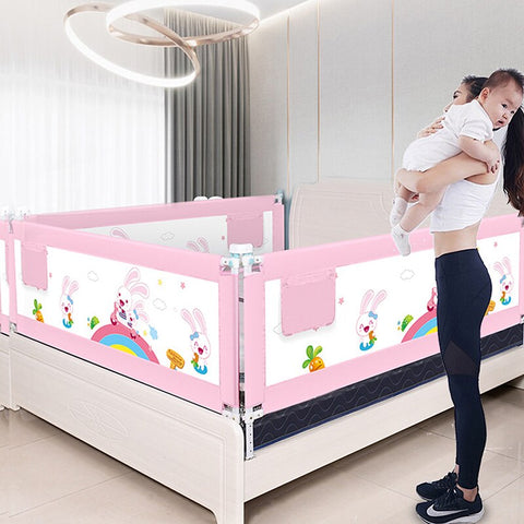 Bed Rails for Toddlers Bed Guard Rail Toddler Childrens Bed Fence Portable Child Safety Fence Baby Protection Cover Rose Red Crib guardrail