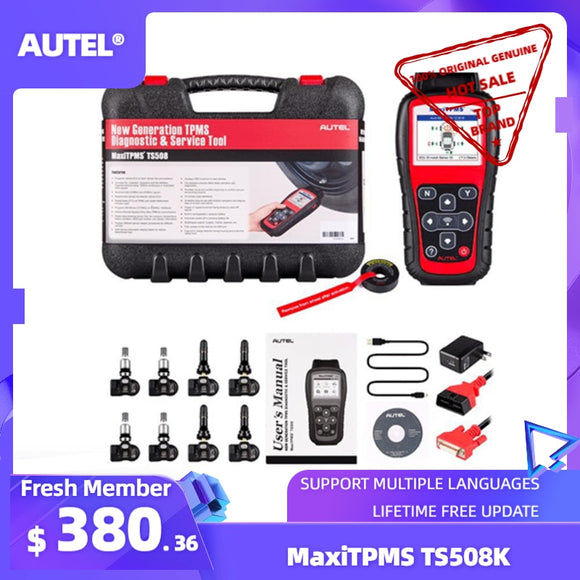 Autel TS508K TPMS Diagnostic Tool TPMS Sensor Check TPMS System Health Condition, Program MX-sensors and Conduct TPMS Relearn