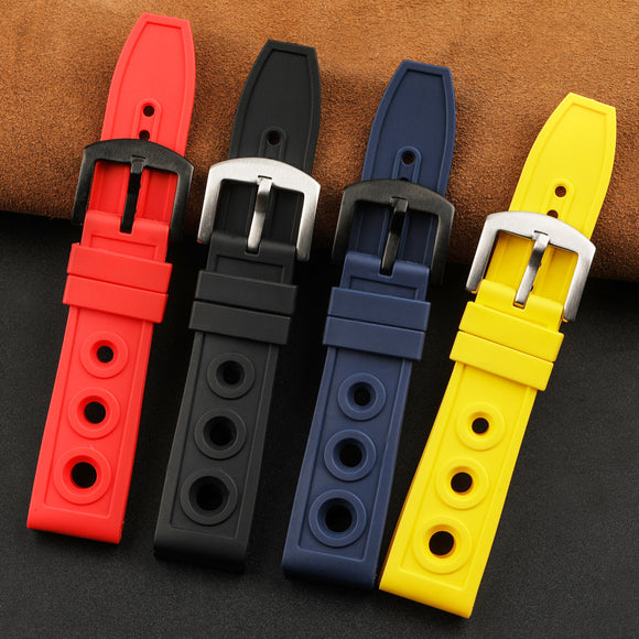 2020 New Arrival Malaysia Mans Replacement Watch Bands 22/24MM 4 Colors Rubber Strap 22mm Suit For Watch Bracelets 24mm Watches