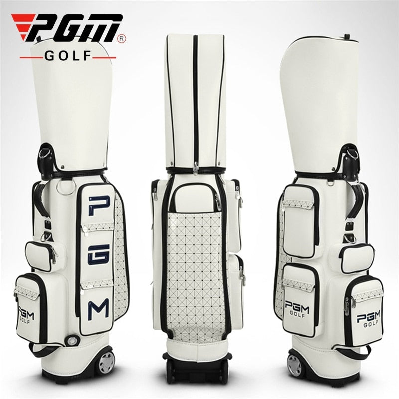Pgm Women Golf Standard Bag Pu Waterproof Golf Bags Large Capacity Travel Golf Bags Professional Golf Cart Club Packages D0082