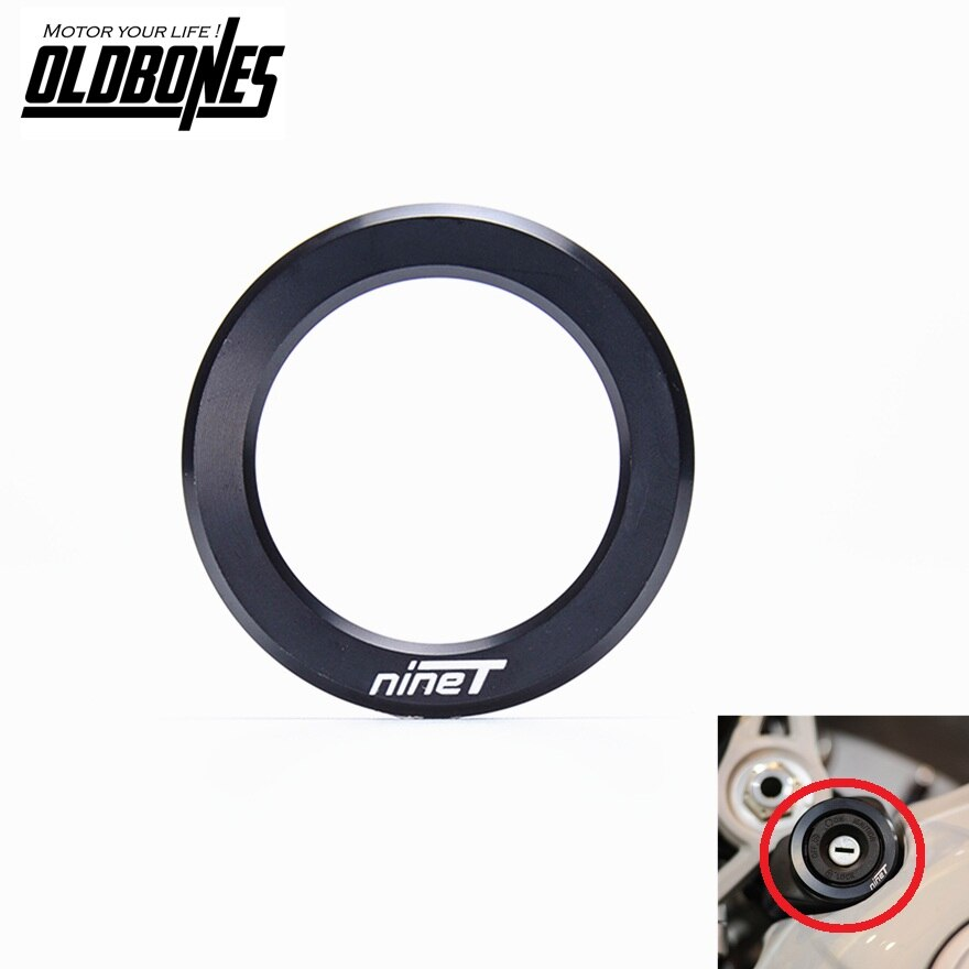 for BMW CNC Key Lock Cover R Ninet R 9 t 2014 2015 2016 Motorcycle accessories Ring Decroation Cover