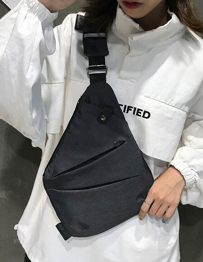 Waist Bag fanny pack for Men Women Chest Bags Canvas kidney Belt bag zipper sports Harajuku Purse nerka sac banane femme  1.16