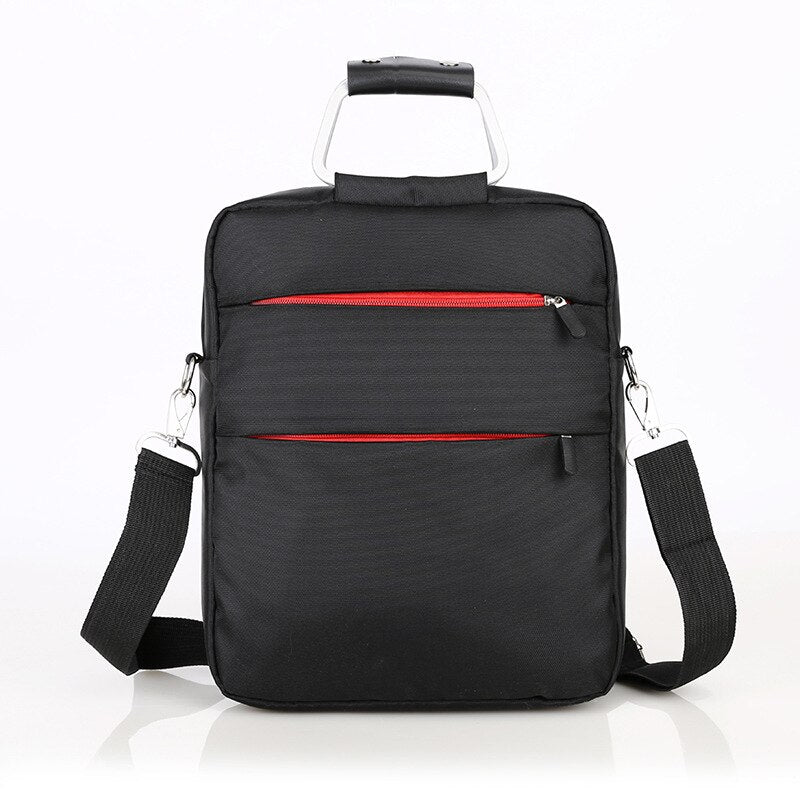 Men Oxford cloth handbag waterproof travel bag large capacity shoulder bag Unisex travel boarding luggage Vertical computer bag