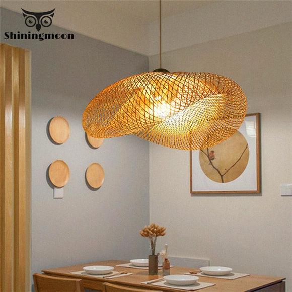 Modern Loft LED Pendant Lights Chinese Classical Bamboo Kitchen Hanging Lamp Dining Room Home Decor Pendant Lamp Light Fixtures