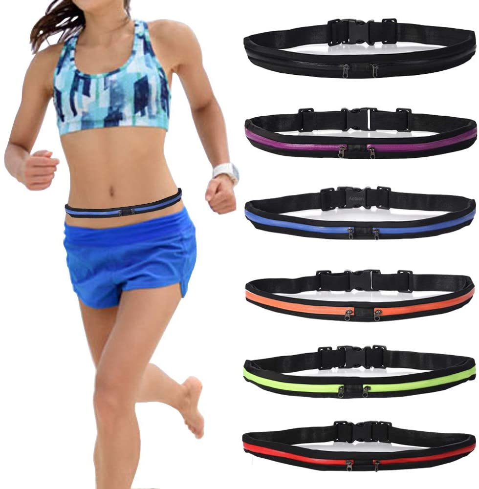 Women Running Belt Waist Bag Fanny Pack Pack Jogging Hiking Cycling Gym Fitness Bag Waterproof Phone Container Holder