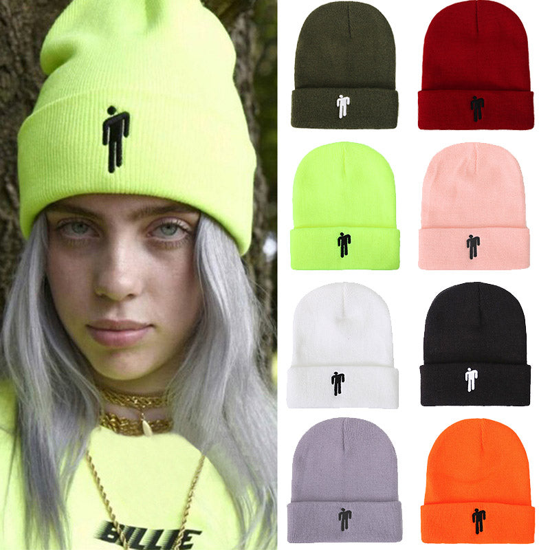 Fashion Unisex Winter Knitted Pineapple Embroidery Hat Warm Beanies Casual Coupl