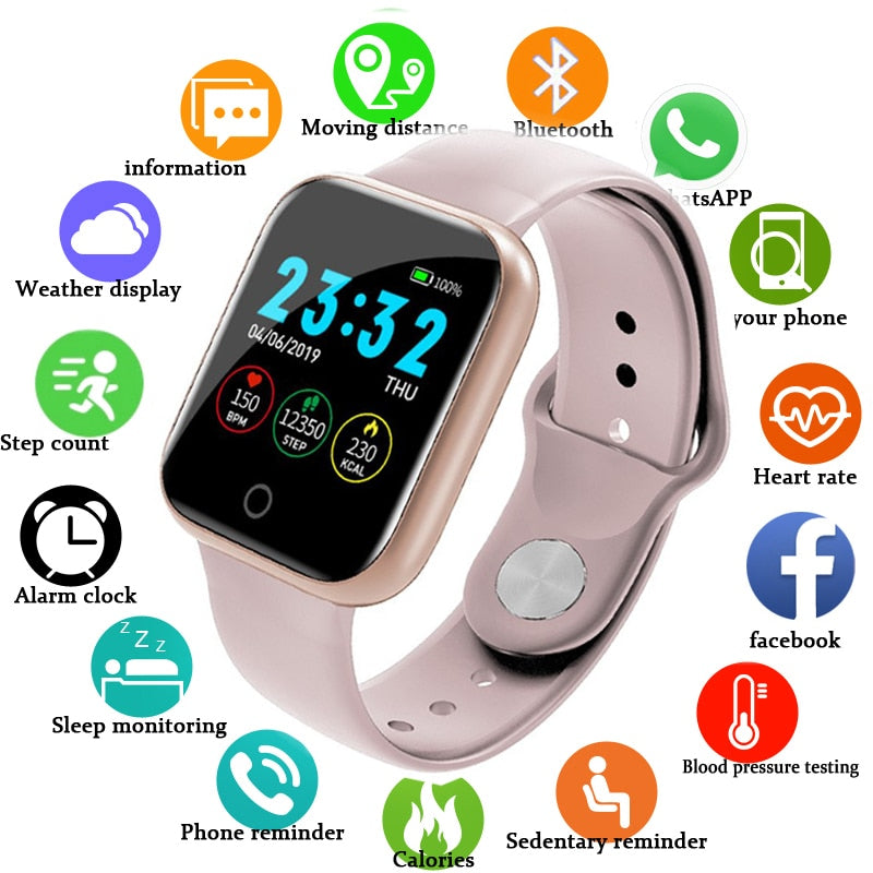 IMIDO Smart Watch Women Men Smartwatch For Android IOS Electronics Smart Clock Fitness Tracker Silicone Strap Smart-watch Hours