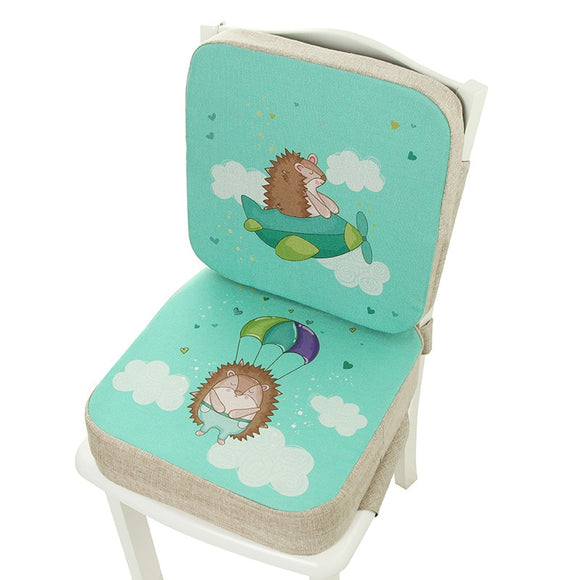 Children Dining Chair Heighten Cushion Elementary Pupil Desk Seat Baby Heighten Breathable Cartoon Removable Increase High Seat