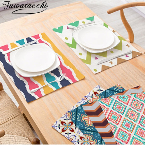 Fuwatacchi Kitchen Table Mats Simplicity Placemats Heat Protection Decorative Placemats Dining Table Placemat Tea Drink Coasters