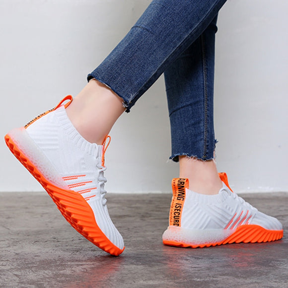 2020 Platform Sock Women Black Orange Green White Sneakers Chunky Shoes Trainers Casual Mesh Tennis Feminino FM-A22