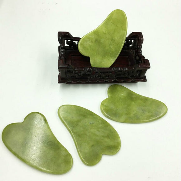 Natural Jade Guasha Board Jade Stone Face Lift Body Skin Relaxation Gua Sha SPA Massage Tool Health Care Plate Massager