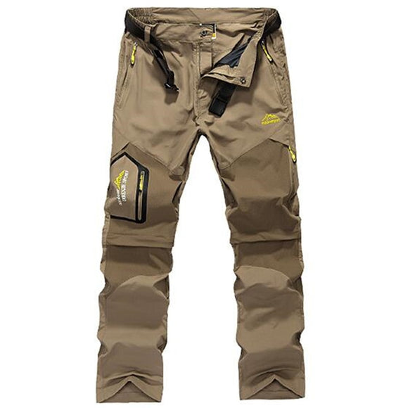 Quick Dry Pants Men Summer Breathable Long Trousers Mens Casual Outdoors Sport Camping Trekking Removable Pants 5XL 6XL Joggers