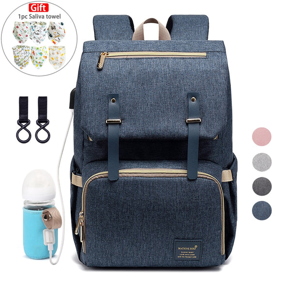 Baby Diaper Bag Backpack for Mom 2020 USB Maternity Baby Care Nappy Nursing Bags Fashion Travel Diaper Backpack for Stroller Kit