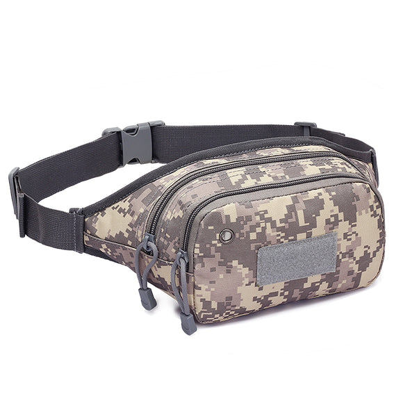 NEW Military Camouflage Sports Belt Bag Outdoor Men Women Running Cycling BagsRiding Chest Bag Camping Hiking Waist Belt Bags