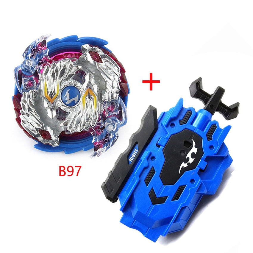 Durable Plastic Gyro Left Right Two-way String Launcher Hand Grip Black for Boys