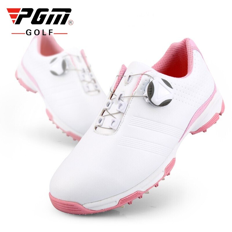 Pgm Patent  Ladies Golf Shoes Waterproof Rotating Buckle Golf Shoes Women Lightweight Anti-slip Training Sneakers D0753