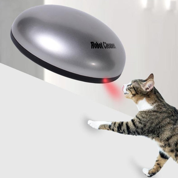 Pet Cat Laser Toy Electronic Rotating Mini Robot Cleaner Dog Cat Hair Removal Pet Cat Interactive IQ Training Toys Funny Chasing