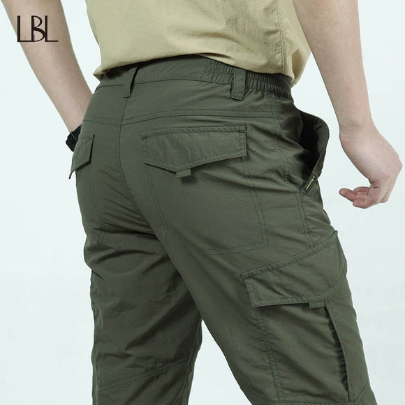 Tactical Waterproof Pants Men Summer Quick Dry Thin Breathable Military Trousers Mens Outdoor Sports Trekking Camping Pants