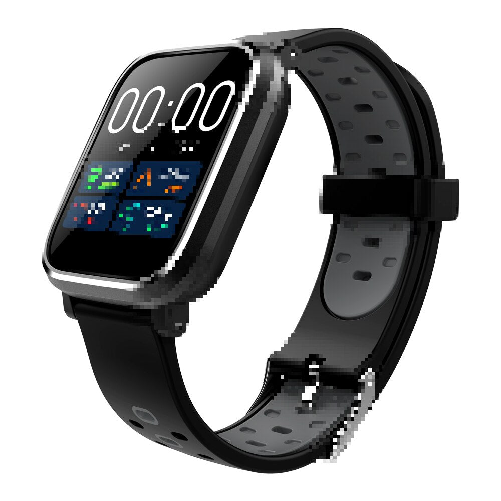 Q58 Men's Smart Watch Free Shipping IP67 Waterproof Heart Rate Blood Pressure Bluetooth Health Sports SmartWatch for Android IOS