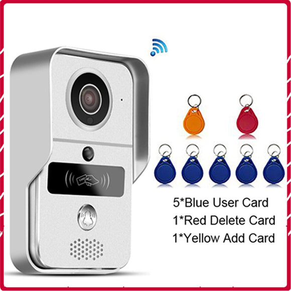 Wireless IP Video Door Bell Video Intercom WIFI Doorbell Camera Night Vision PIR Alarm Unlock Door POE Security Camera