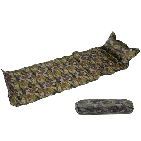 Double Camping Self Inflating Camping Pillow Roll Mat//Pad Sleeping Bed Mattress