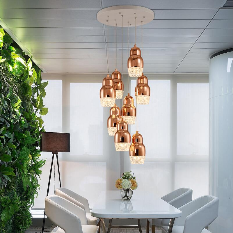 Modern LED Glass Pendant Lights Plated Single Head Pendant Lamp Dining Room Suspension Luminaire Home Decor Lighting Fixtures