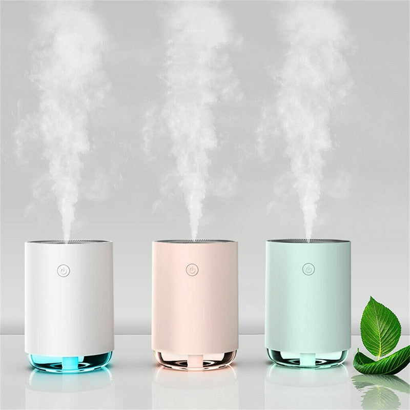 Diffuser Aromaterapia Air Humidifier Aroma Essential Oil Mist Maker  with LED Lamp USB Fogger  for Home Office Car living room