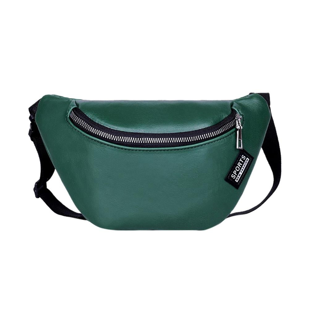 College Style PU Leather Waterproof Sports Bags for Women Men Solid Waist Pack Chest Bag Fitness Running Fanny Pack sporttas A40