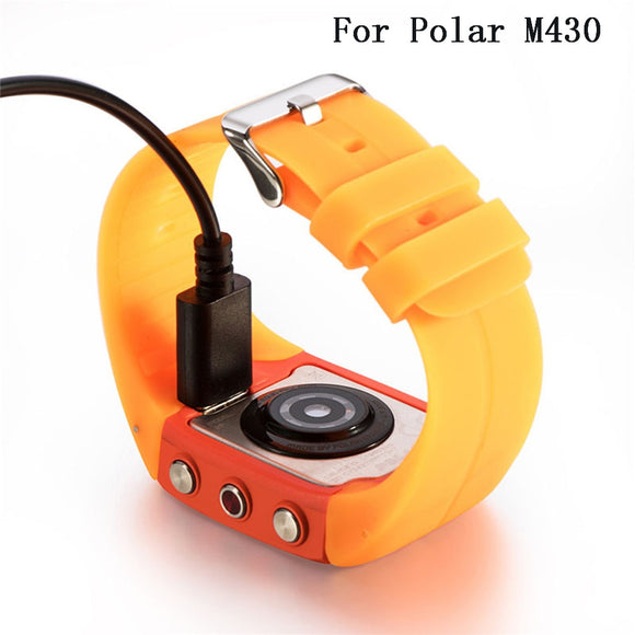 For Polar M430 Watch USB Charging Data Cradle Dock Cable Portable Charger Smart Watch Bracelets Band Strap Accessories M 430