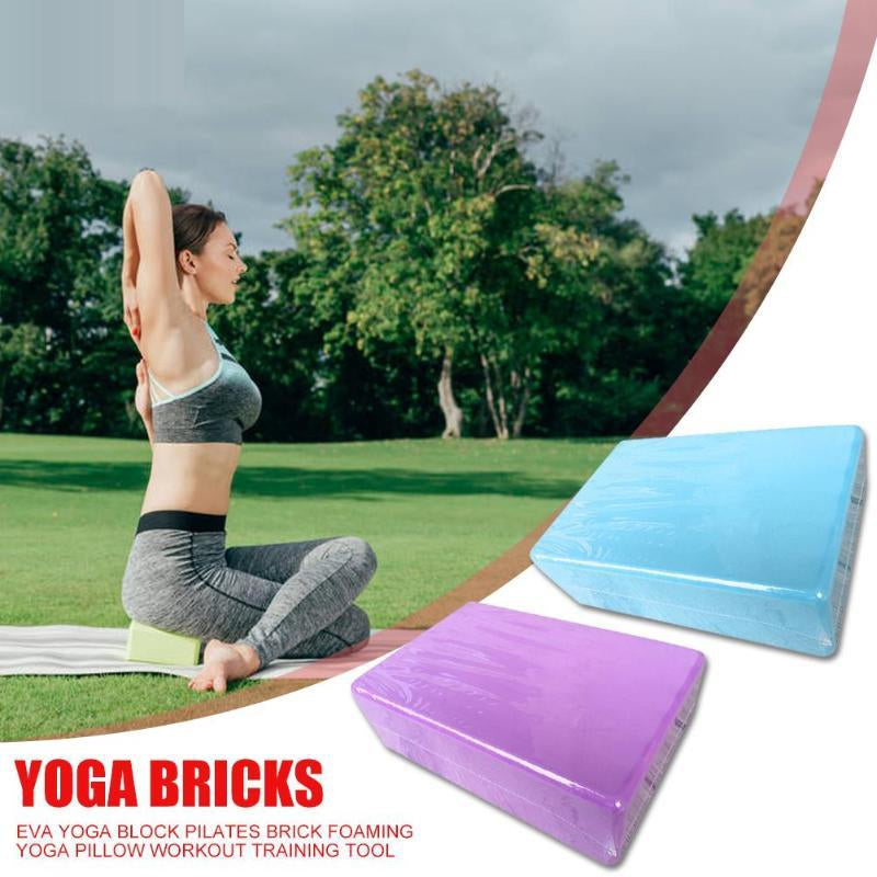 Hot Sale Yoga Blocks Wear-resistant EVA Yoga Block Exercise Workout Stretching Aid Body Shaping Health Training Tool