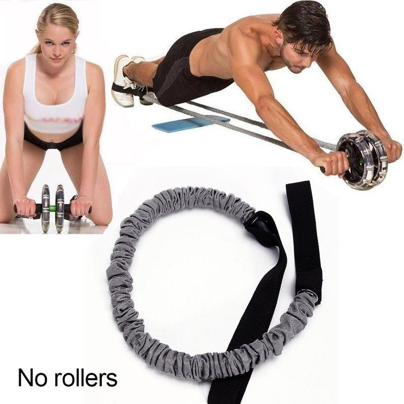 Double-Wheeled Power Wheel Elastic Resistance Pull Rope for Abdominal Muscle Trainer ABS Roller Home Gym Fitness Equipment HWC//Green