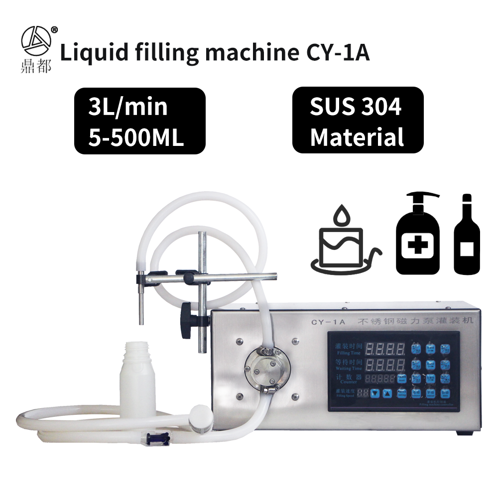 Automatic small liquid filling machine CY-1A CY-2Afor Water Wine Disinfectant Juice Essential oil Milk